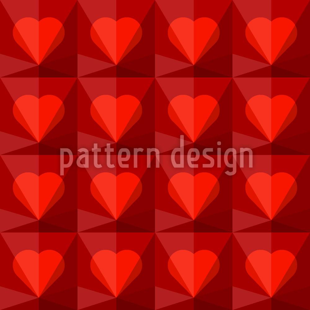 Designtapete Rubin Herzen