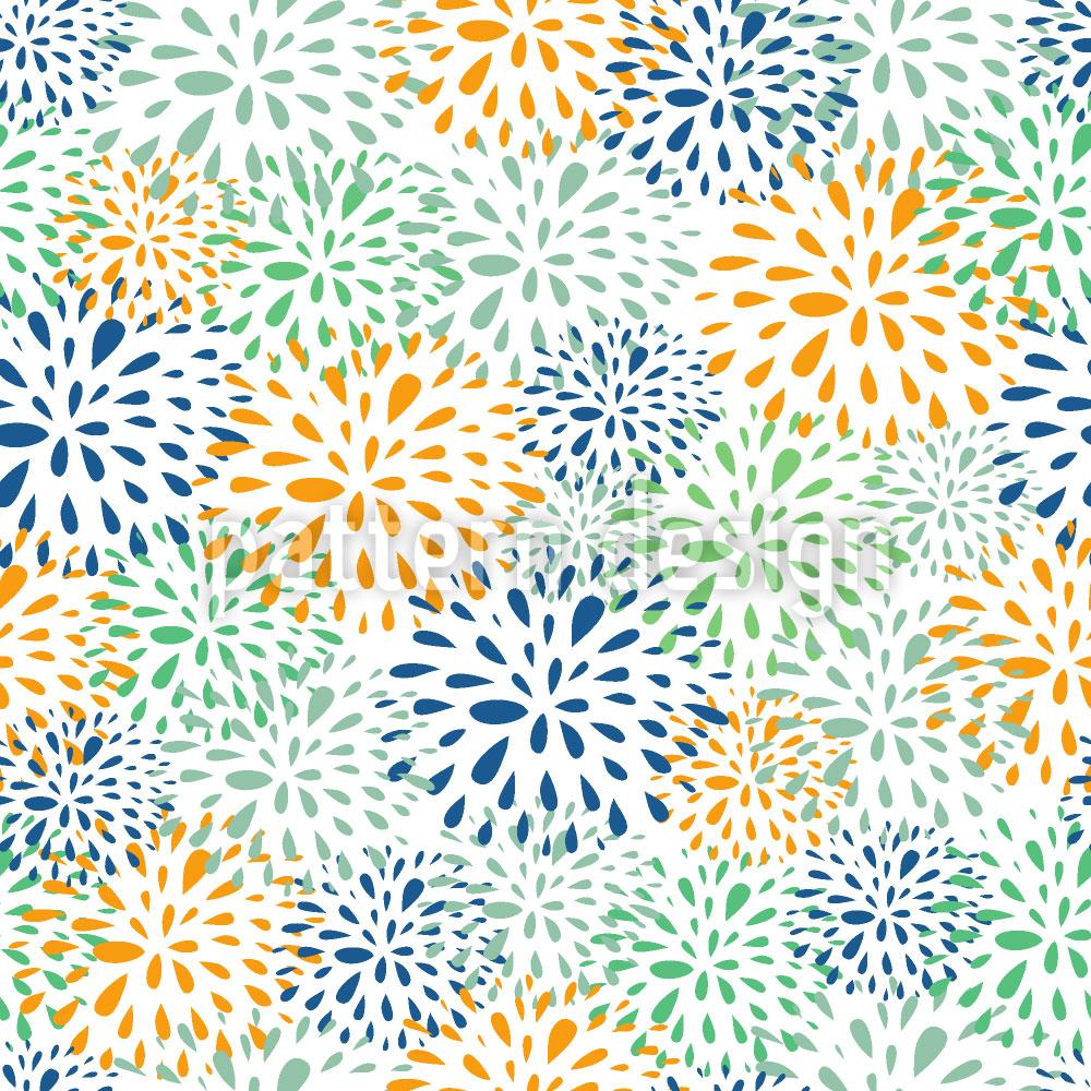 Designtapete Blumen Feuerwerk