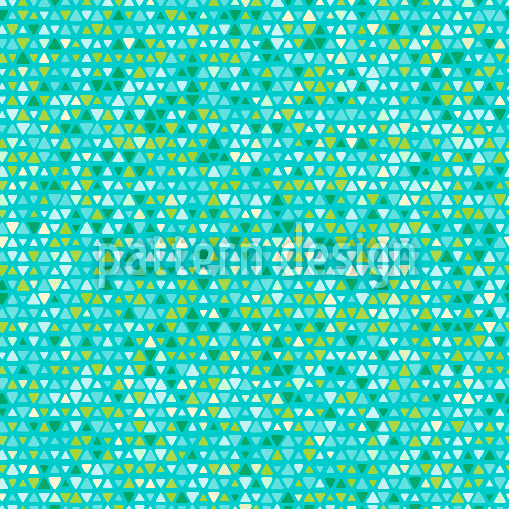 Designtapete Aqua Pixel