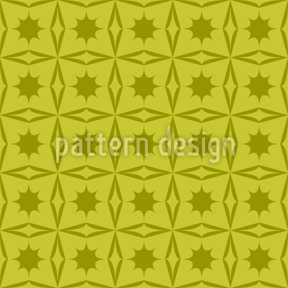 Designtapete Stechpalmen Geometrie