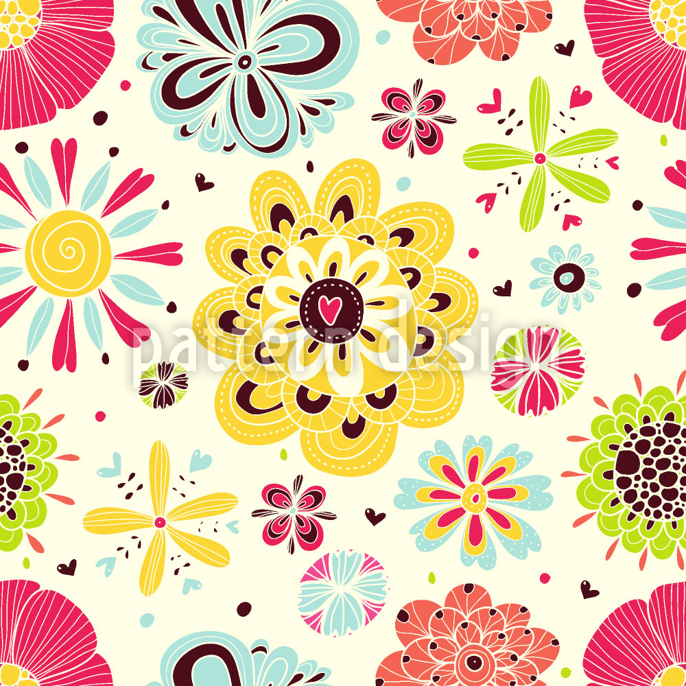 Designtapete Summer Splash Floral