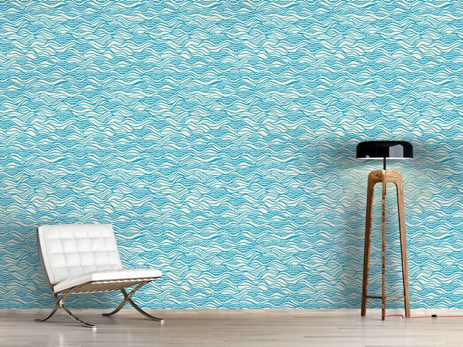 Designtapete Sie Träumten Vom Zarten Wellen Meer