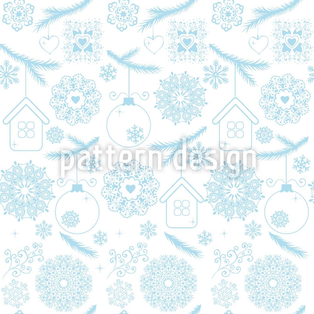 Designtapete Hauchzarte Weihnacht