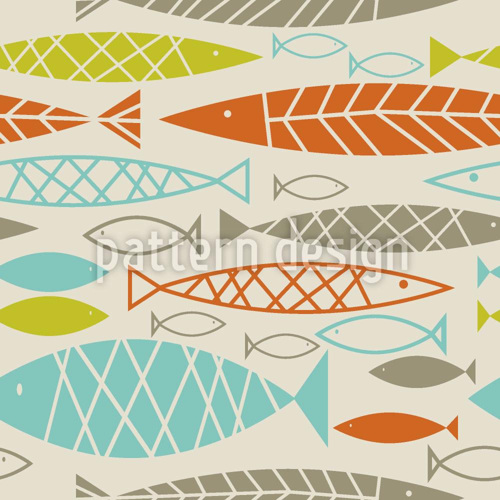 Designtapete Frische Fische