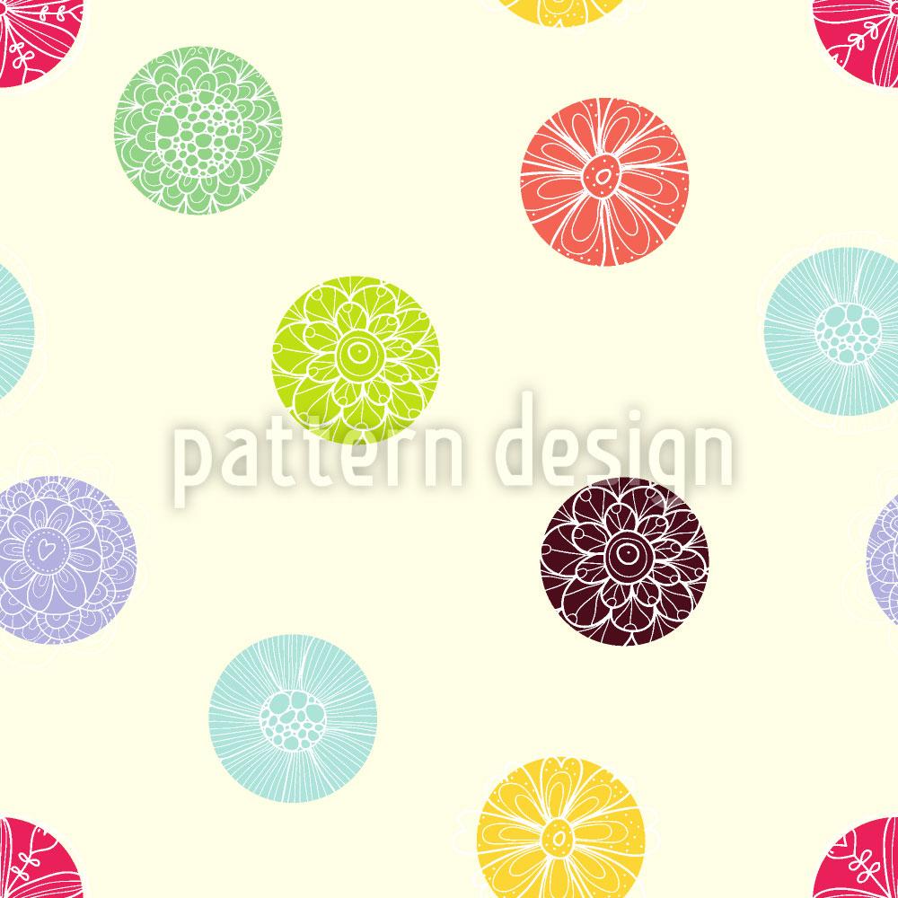 Designtapete Blühende Punkte