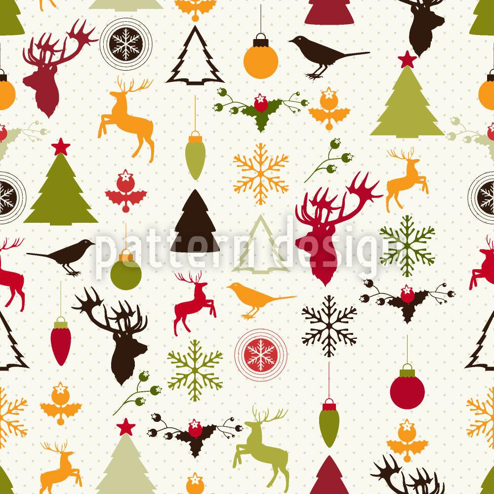 Designtapete Weihnachtsglück