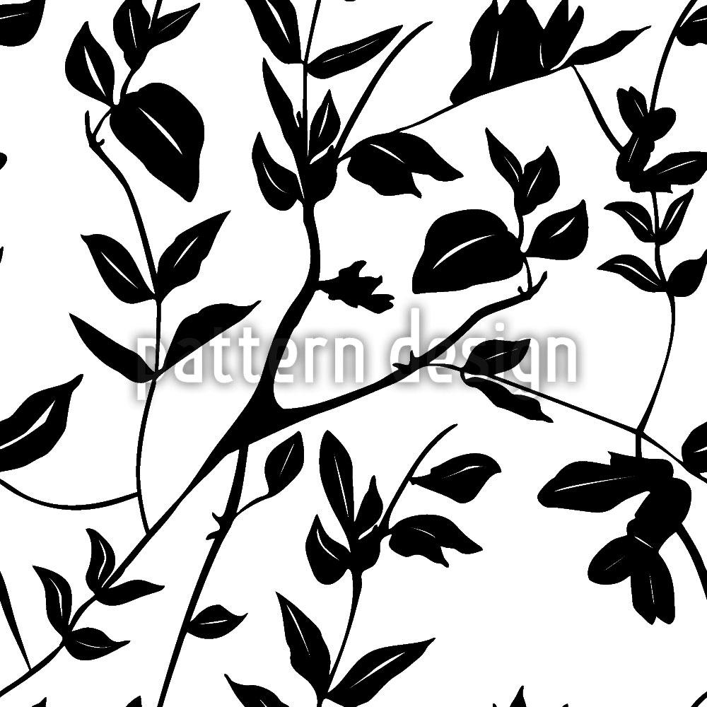 Designtapete Blätter Im Schatten