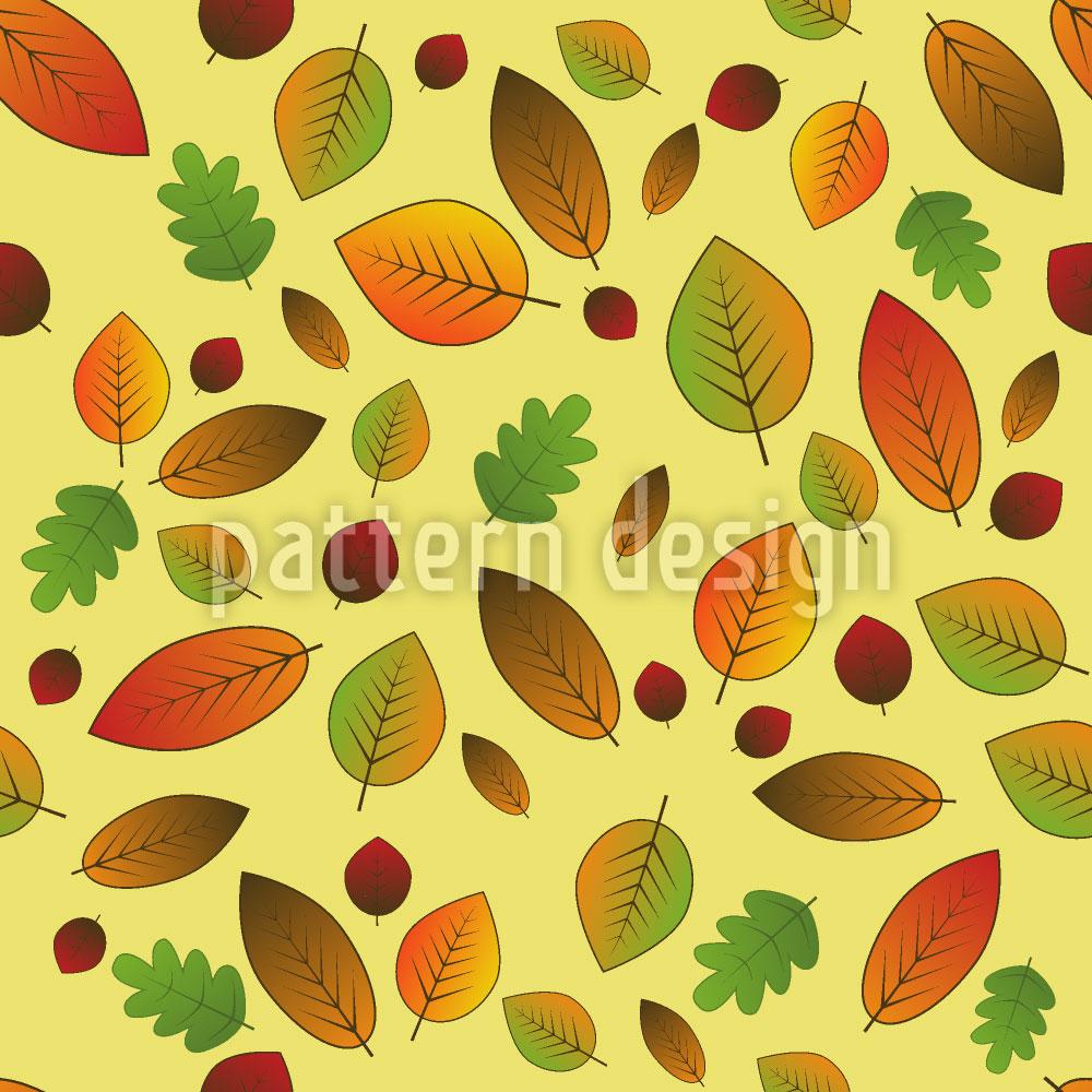 Designtapete Blätter Im Wandel