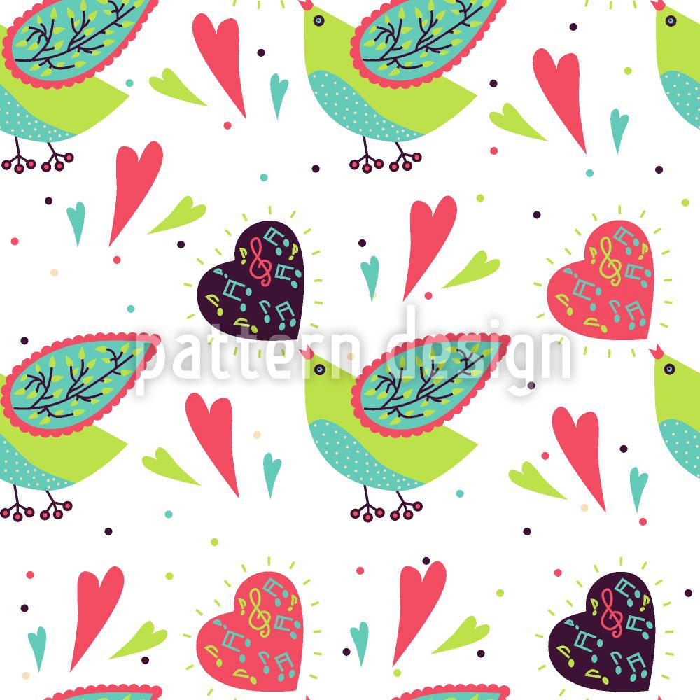 Designtapete Vogelgesang Der Liebe