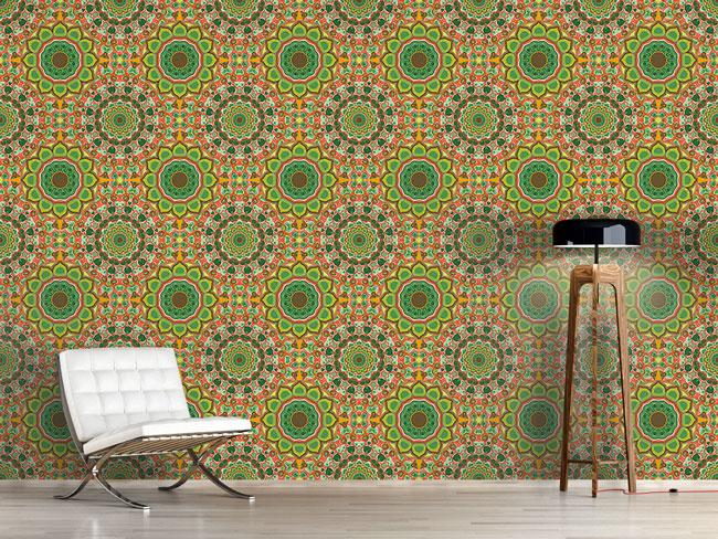 Designtapete Mandala Kaleidoskop