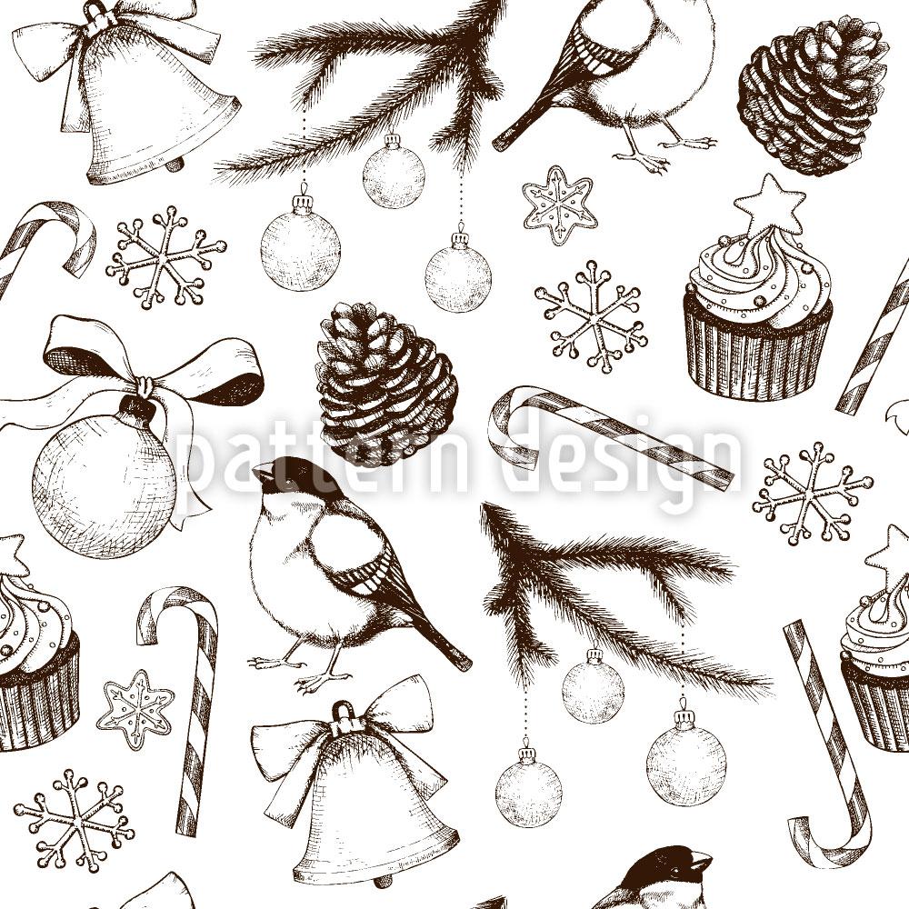 Designtapete Zur Winterzeit