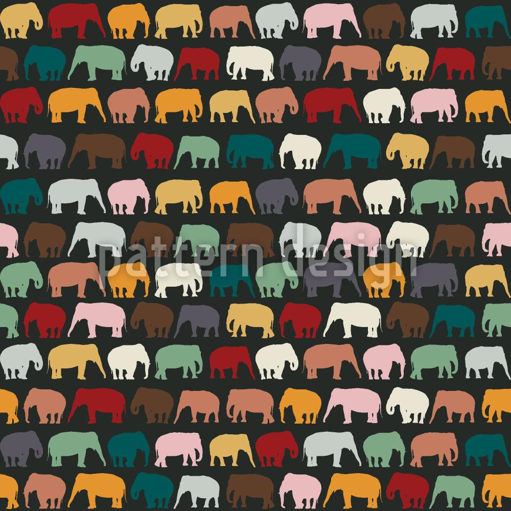 Designtapete Elephanten Zone