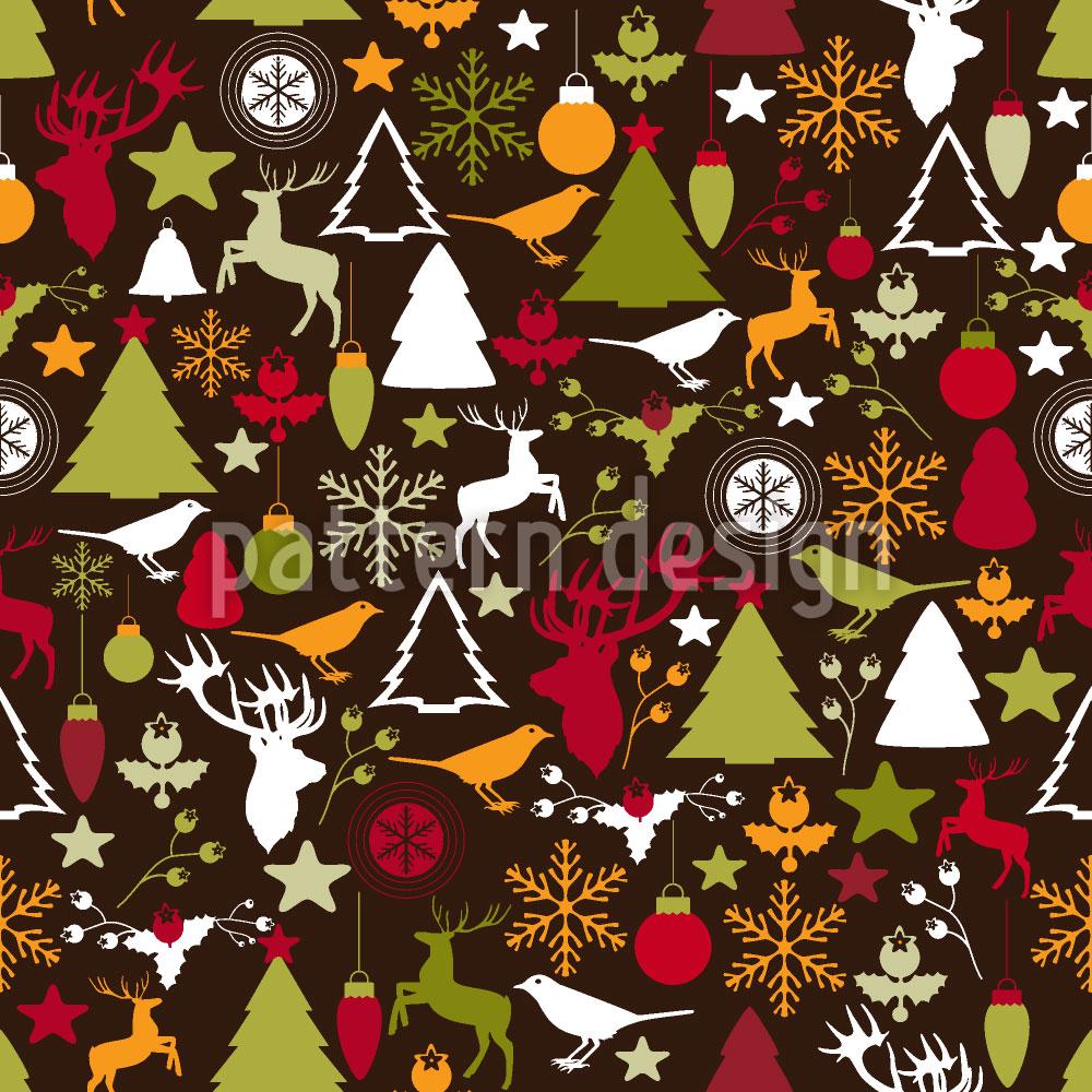 Designtapete Weihnachten Im Wald