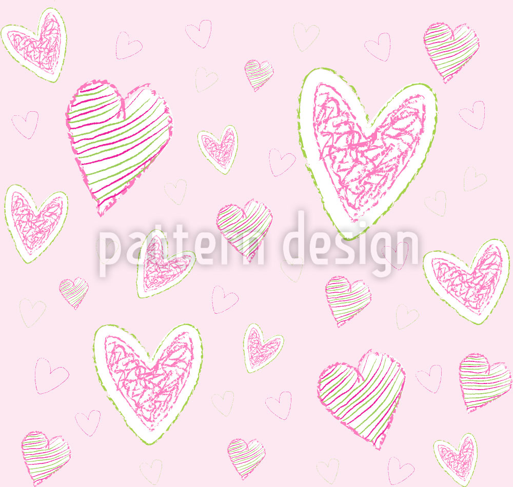 Designtapete Wir Malen Herzen