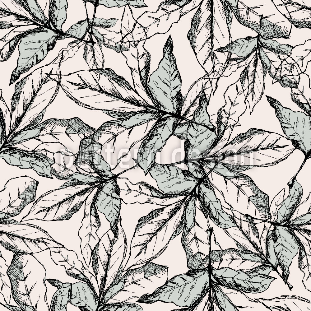 Designtapete Fallende Blätter