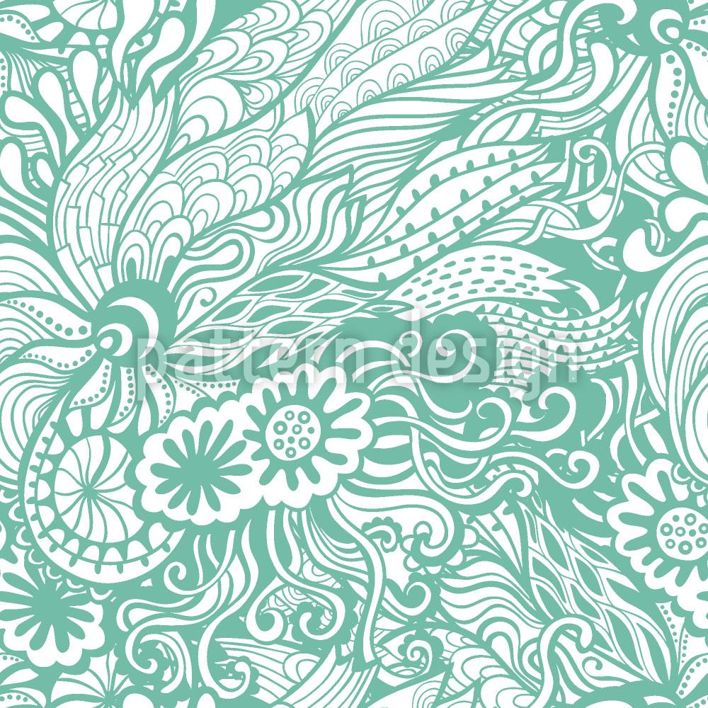Designtapete Art Nouveau Des Meeres