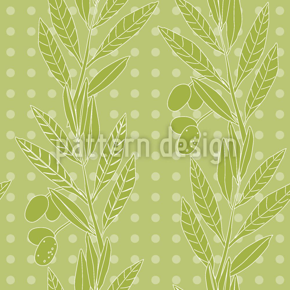 Designtapete Grüne Oliven
