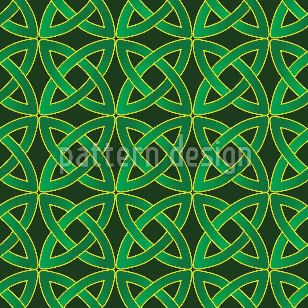 Designtapete Keltische Kreise
