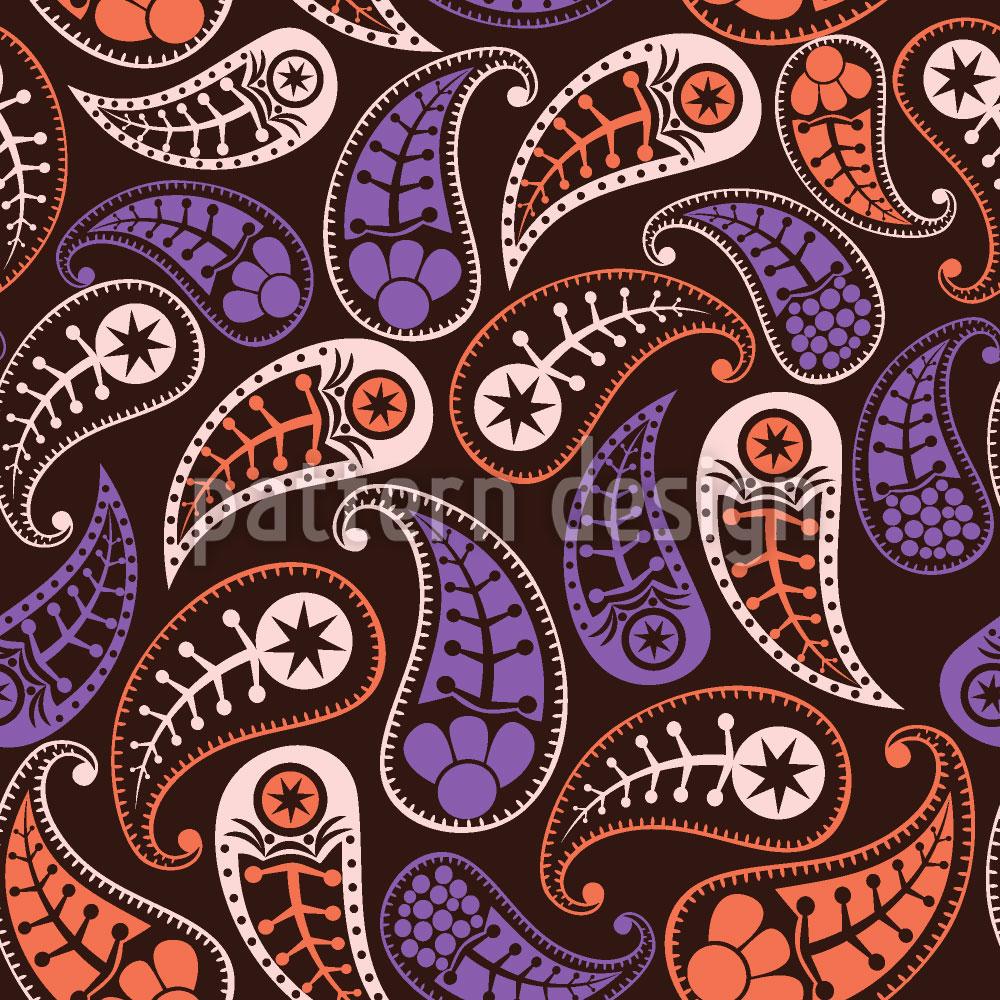 Designtapete Liebliche Herbst Paisleys