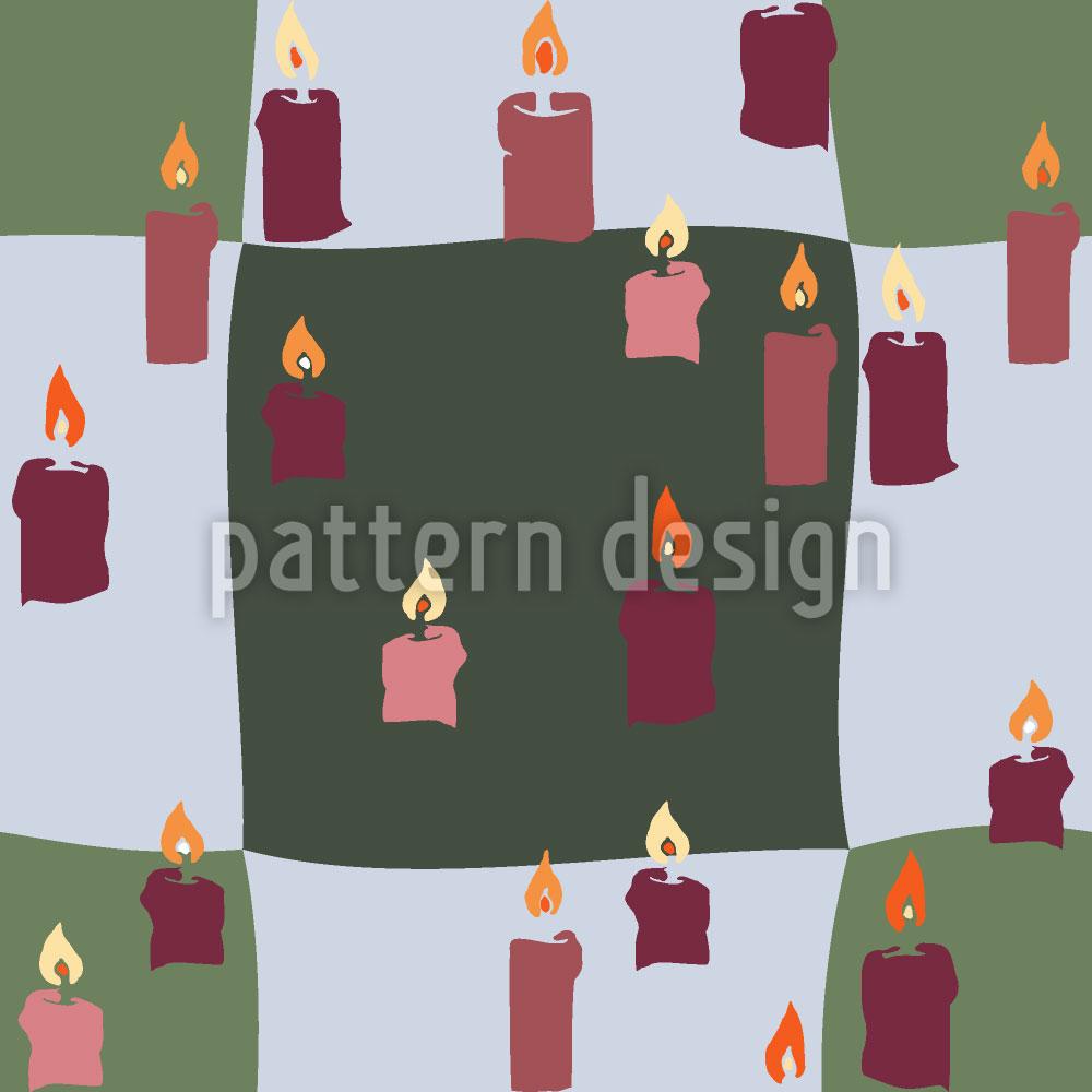 Designtapete Kerzenlicht Auf Karo