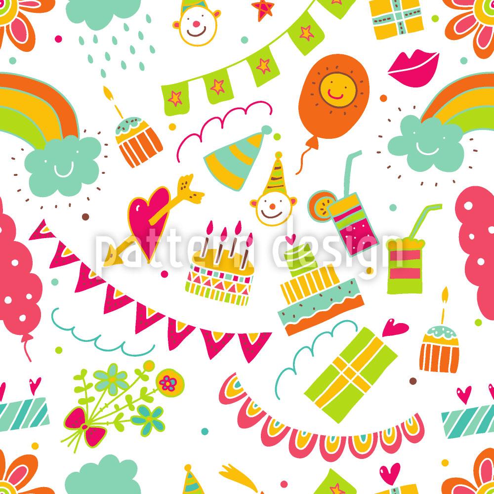 Designtapete Meine Tollste Geburtstagsparty