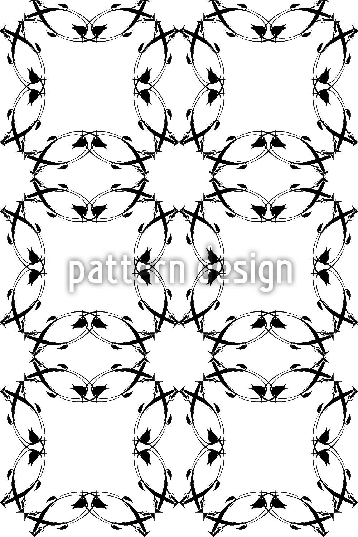 Designtapete Gotik Floral