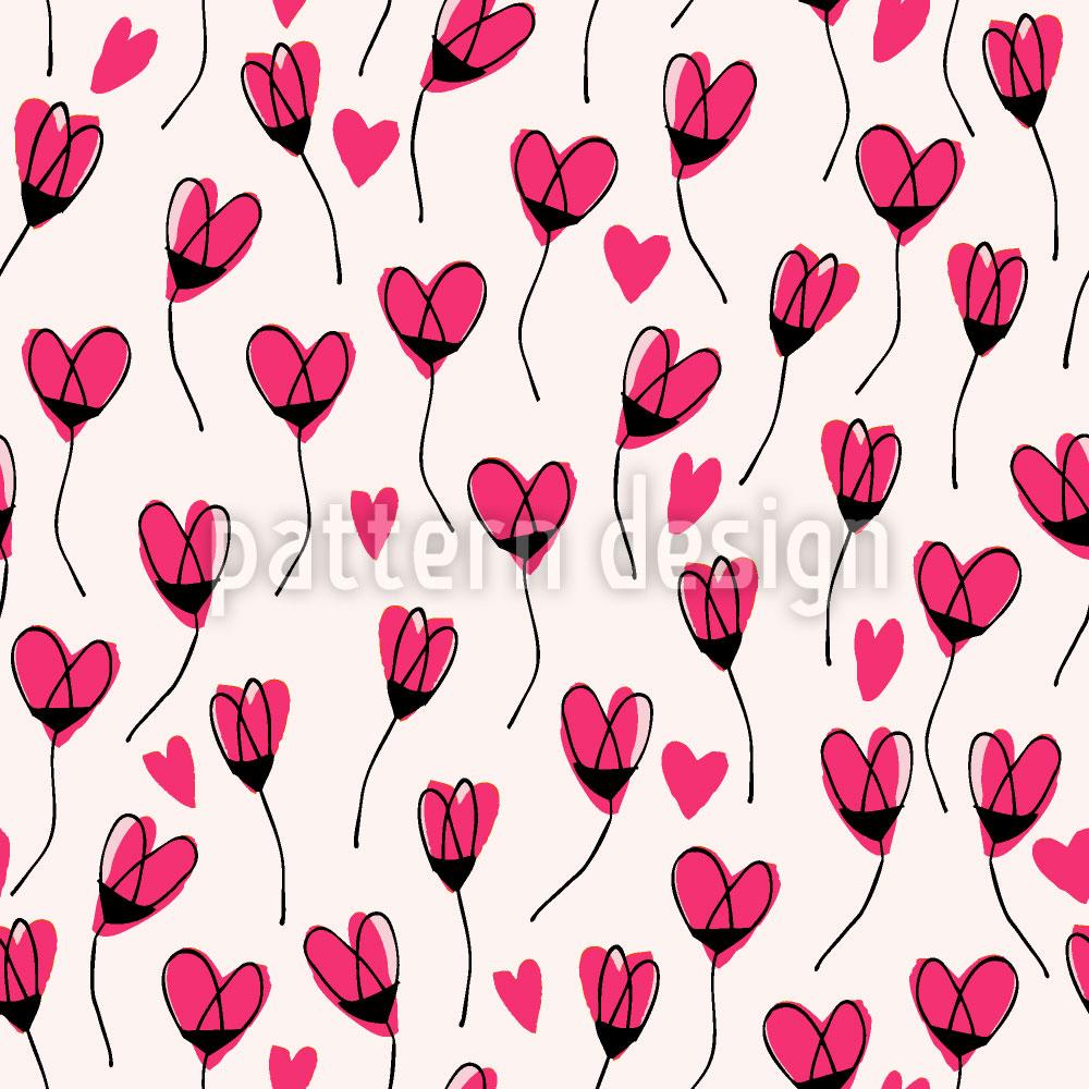 Designtapete Herzchen Herzchen