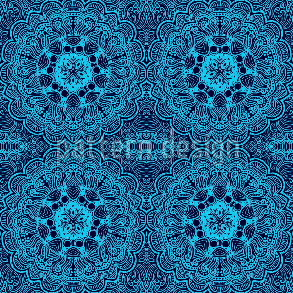 Designtapete Orientalische Stickerei