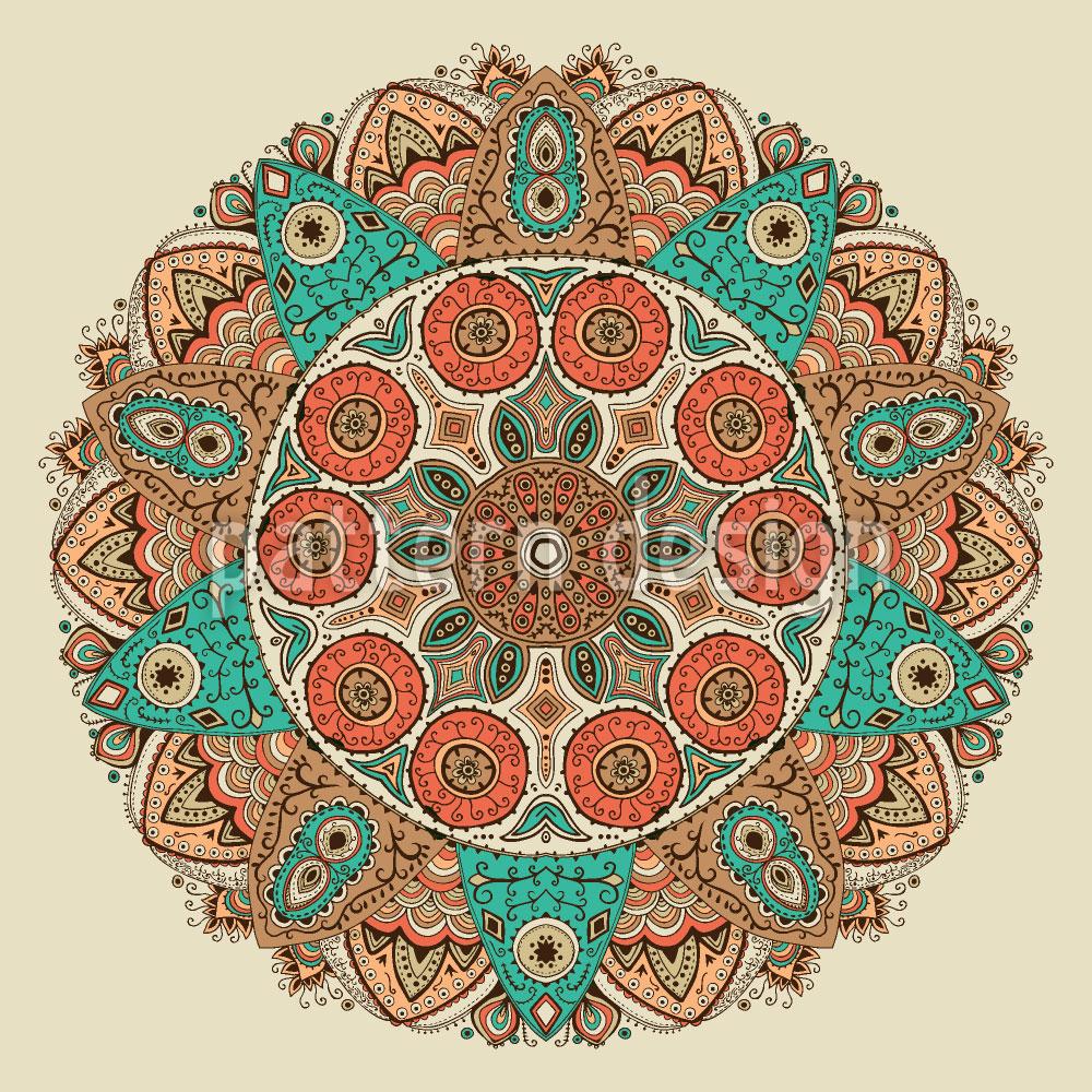 Designtapete Das Mandala Des Dschingis Khan