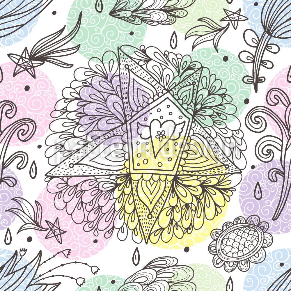 Designtapete Im Traum Sende Ich Sterne Und Blumen