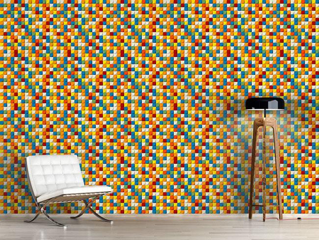 Designtapete Mosaik Steine