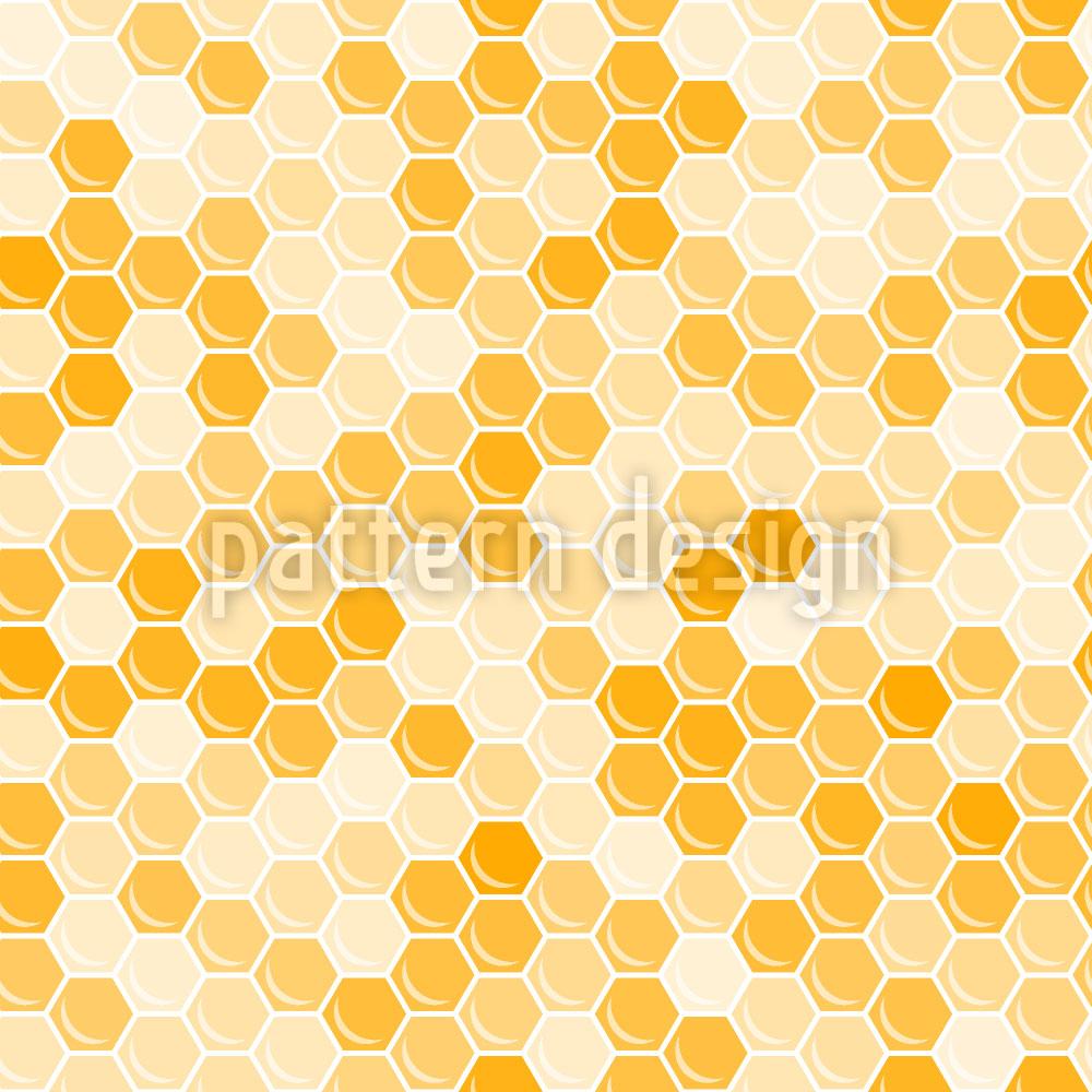 Designtapete Königin Der Bienenwaben