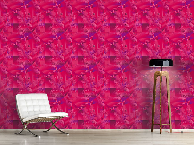 Designtapete Pink Illusion