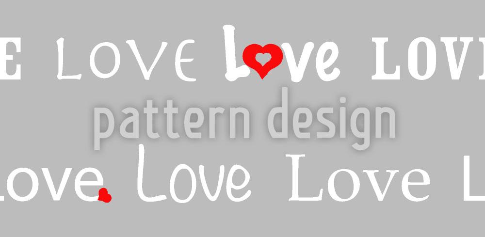 Designtapete Love Letters