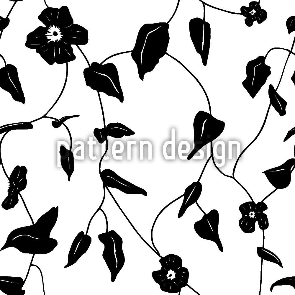 Designtapete Blumen Silhouetten