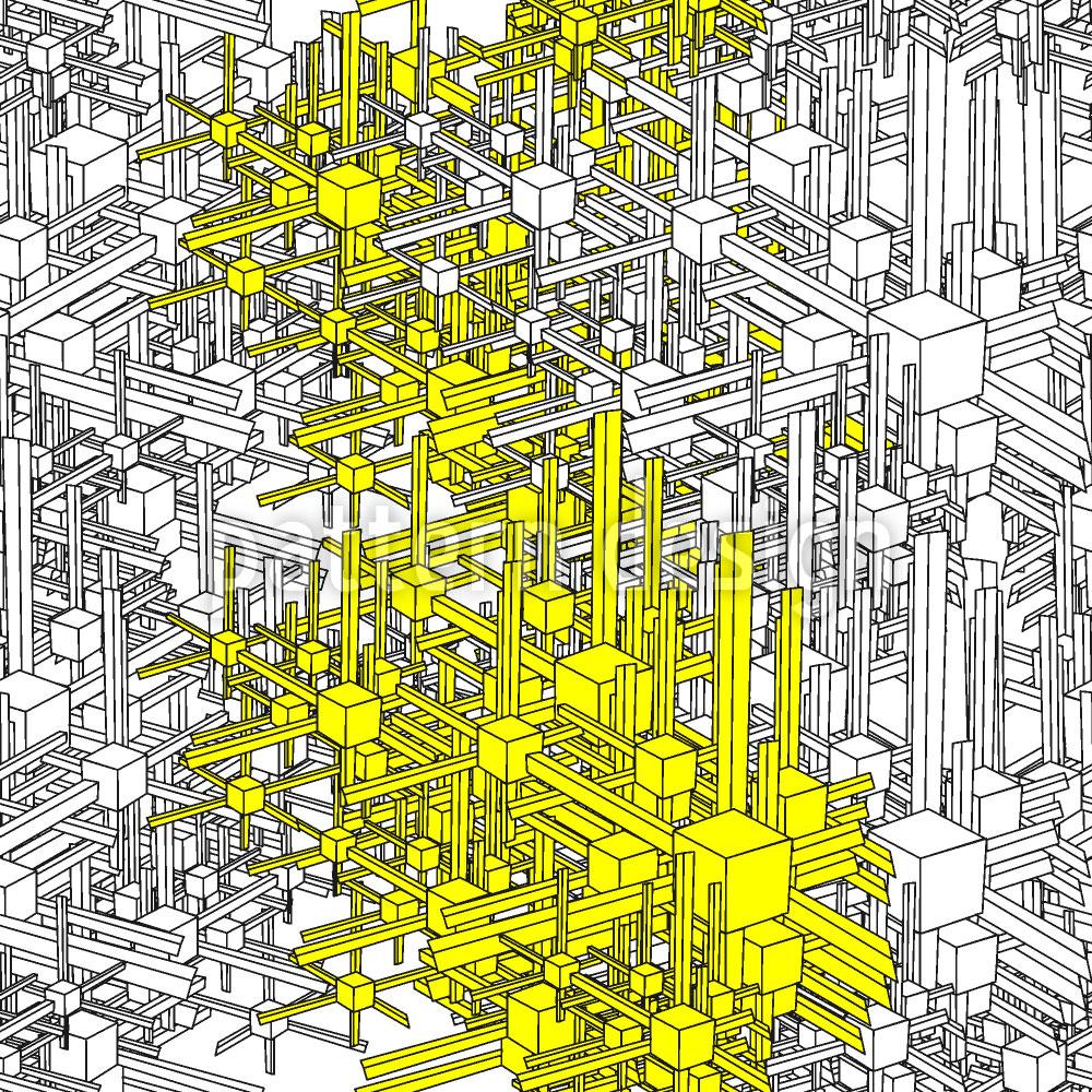 Designtapete Geometrische Metropolen