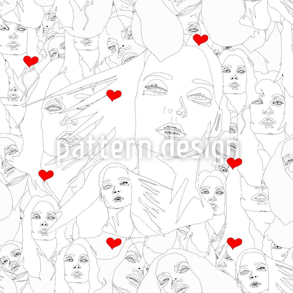 Designtapete Gesicht Der Liebe
