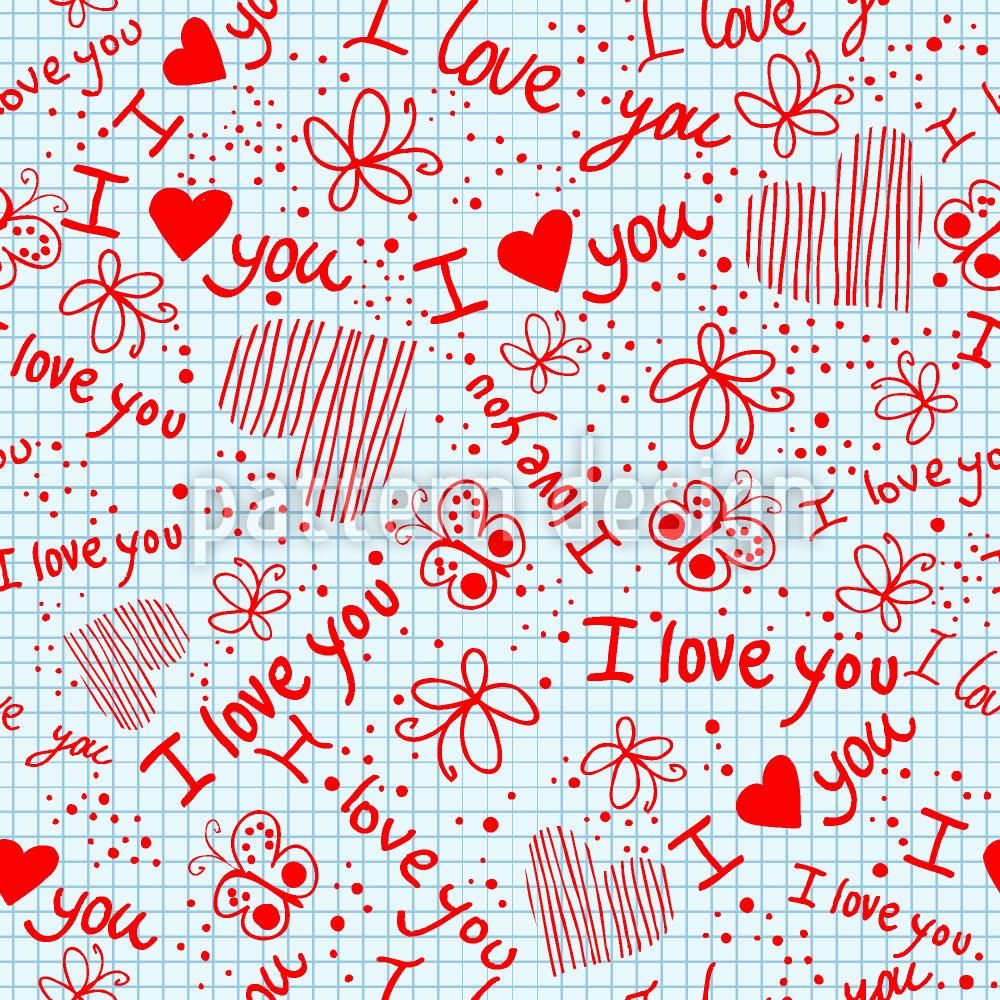 Designtapete Liebesgeständnisse In Der Schule