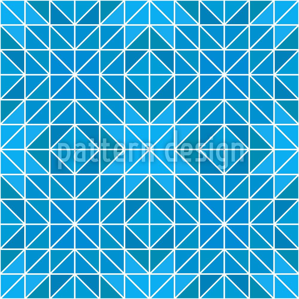 Designtapete Gefrorene Geometry