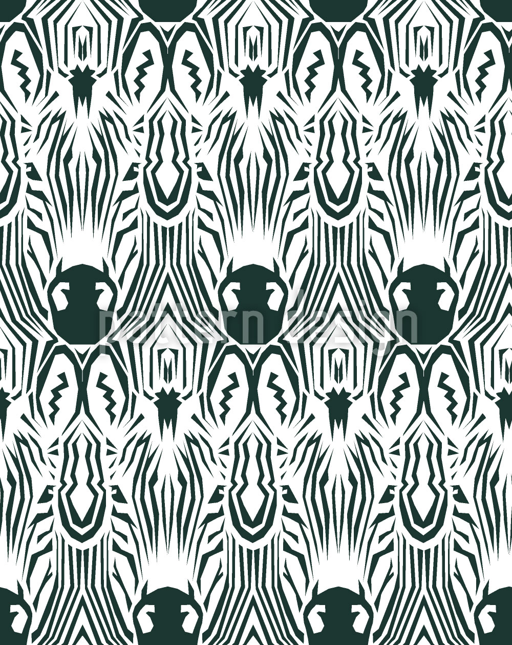Designtapete Zebra Kaleidoskop