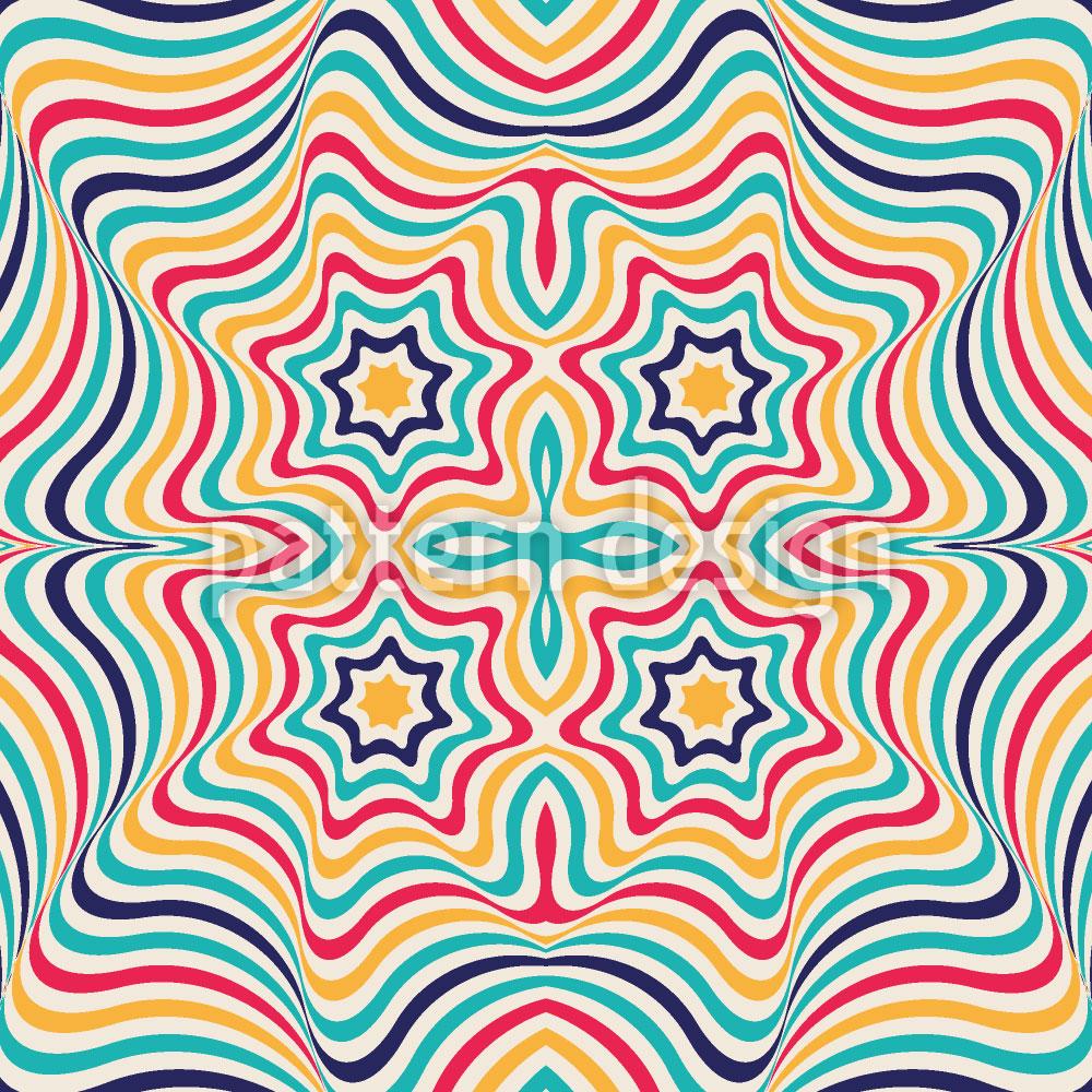 Designtapete Clown Kaleidoskop