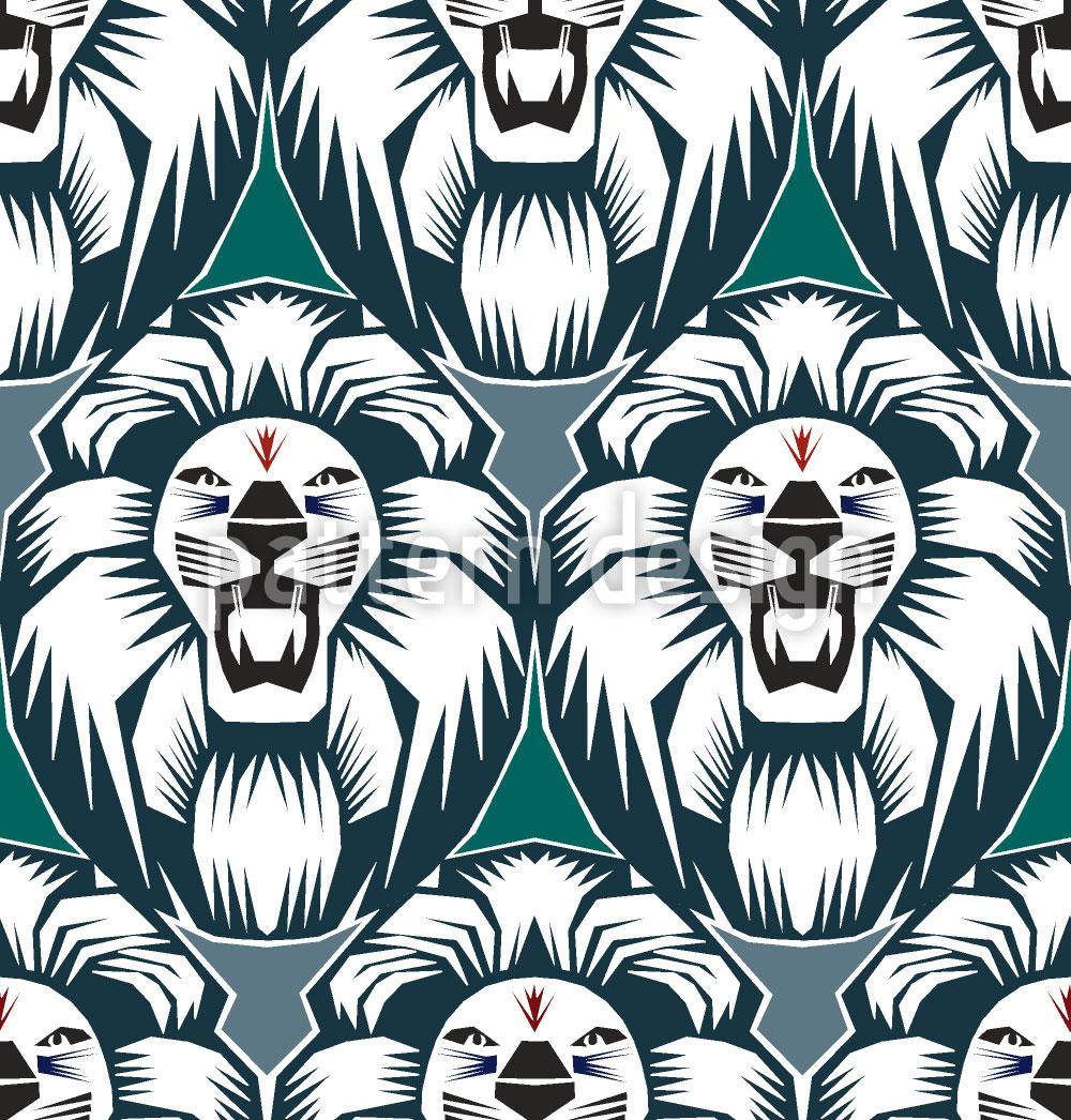 Designtapete Der Löwe Ist Der König