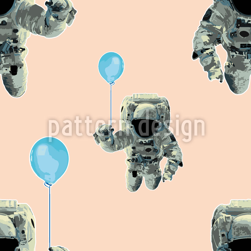 Designtapete Die Party Odyssee Der Astronauten