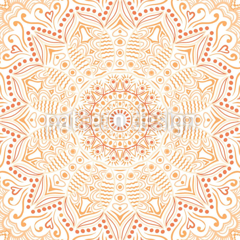 Designtapete Safran Mandala