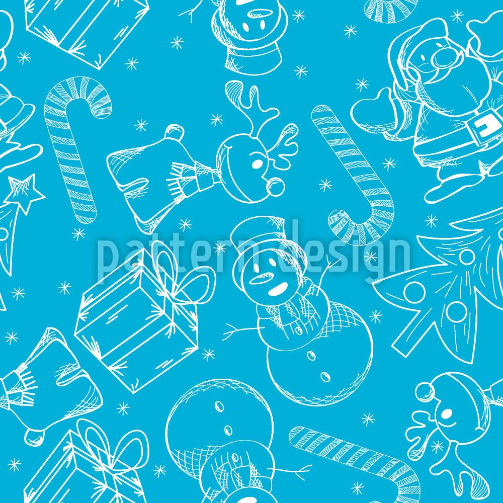 Designtapete Weihnachten Auf Eis