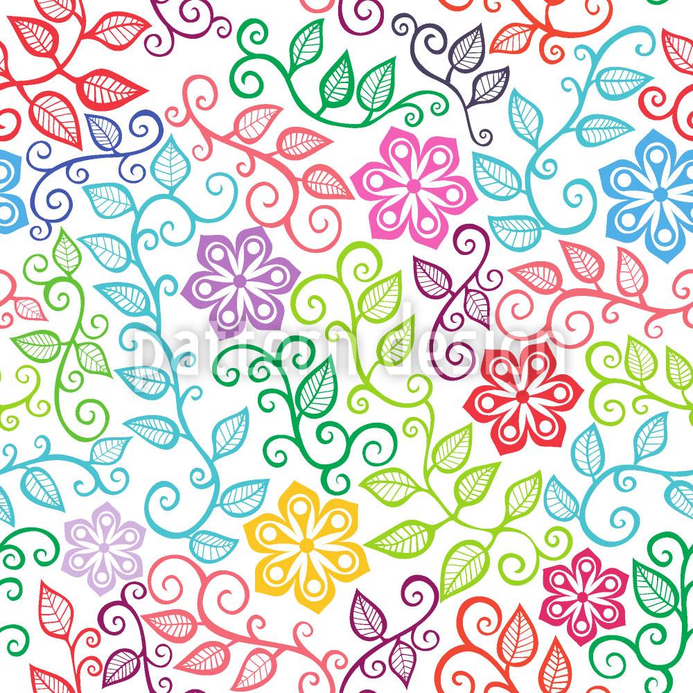 Designtapete Die Blumenfreuden Des Sommers