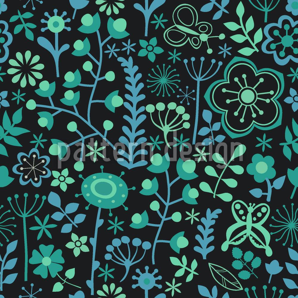 Designtapete Prager Blumen Nächte