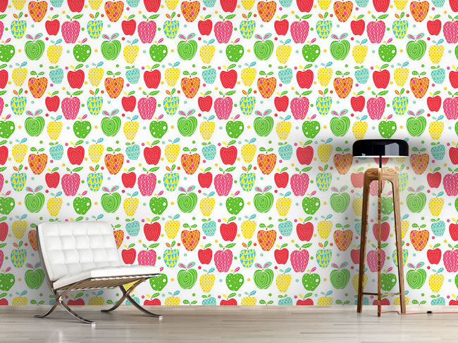 Designtapete Apfel Kunst