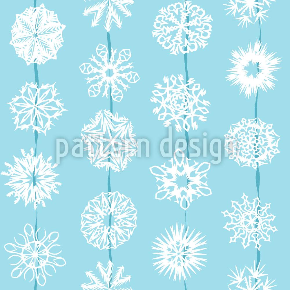 Designtapete Schneeflocken Aus Papier