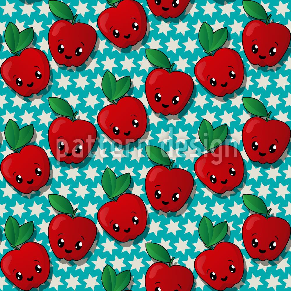 Designtapete Star Apfel